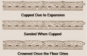 wood flooring problems cupped sanded crowned floor