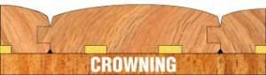 Wood floor crowning