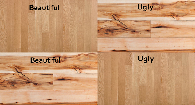 Hardwood Flooring Grades beautiful and ugly